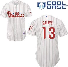 Men's Philadelphia Phillies #13 Freddy Galvis White Home Stitched MLB Majestic Cool Base Jersey