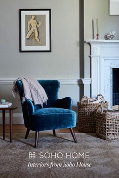 For statement chairs, shop interiors by Soho House. Small Sitting Rooms, Small Lounge, Teen Girl Decor, Snug Room, Home Design Decor, Home Decor, Soho House, Shop Interiors, Living Room Furniture