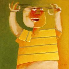 Cama de gato, 1976 Gustavo Rosa (Brasil, SP, 1946) acrílica sobre tela, 80 x 80cm -