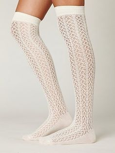Free People Kawaii Crocheted Over the Knee Sock at Free People Clothing Boutique - StyleSays