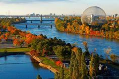 Vue du Parc Jean-Drapeau et de la Biosphère (Montréal) - Joli point de vue!