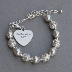 Confirmation Day Gift, Religious Confirmation Gift, Girls Confirmation Jewelry, Faith Bracelet, Christian Bracelet