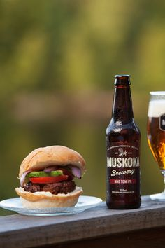 A spicy chipotle burger to go with the kick of Muskoka Brewery's Mad Tom IPA. Baking With Beer, In Season Produce, Shop Local, Chipotle, Ipa, Craft Beer, Finger Foods, Brewery, Ontario