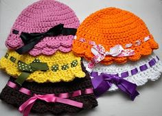 Baby flapper girl hat pattern