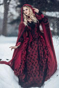 Mariage gothique Sleeping Beauty rouge et noir par RomanticThreads