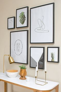 5 Aligned Clever Hacks: Vintage Home Decor Diy Wooden Signs vintage home decor interior design.Vintage Home Decor Bathroom Joanna Gaines vintage home decor inspiration joanna gaines.Vintage Home Decor Chic French Country. Gallery Wall Layout, Modern Gallery Wall, Art Gallery, Kitchen Gallery Wall, Gallery Wall Bedroom, Home Decor Wall Art, Diy Home Decor, Room Decor, Deco Studio