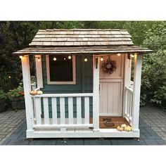 Get the Outdoor Living Today Partnership Little Squirt Playhouse windows and flower boxes western red cedar stands up to most weather conditions and insects at The Home Depot Playhouse Interior, Garden Playhouse, Build A Playhouse, Playhouse Outdoor, Childrens Playhouse, Modern Playhouse, Playhouse Ideas, Playhouse Decor, Girls Playhouse
