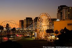 Ferris Wheel at The Pike, Waterfront Center, Long Beach, California