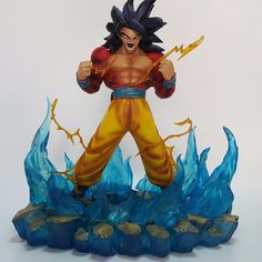 255.00$  Watch now - http://alib07.worldwells.pw/go.php?t=32727800465 - Dragon Ball Z Action Figures Son Goku Super Saiyan 4 Resin 330MM Collectible Model Toy Anime Dragon Ball Z Resine DBZ