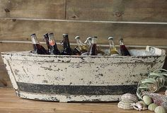 Wooden boat w/tin insert - kitchen