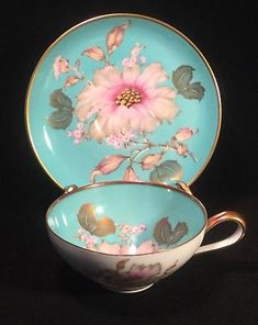 RKW Bavaria Tea Cup and Saucer Turquoise