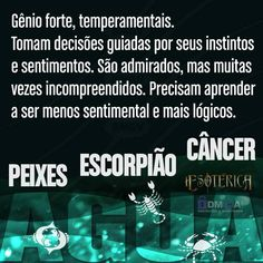 peixes/escorpião/câncer