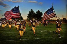 West Texas High School Football Remembers 9/11 - Tha Alpine Fightin' Bucks.