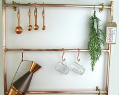 Handmade Copper Pot And Pan Rail Pan by ProperCopperDesign on Etsy