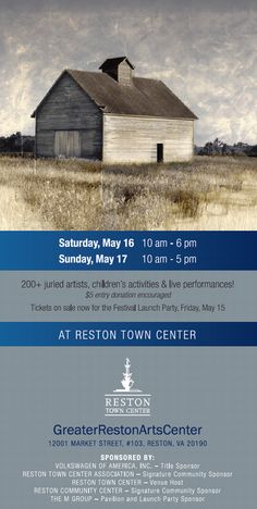 The countdown is on for one of the largest art festivals on the East Coast! Greater Reston Arts Center's Northern Virginia Fine Arts Festival brings in over 200 artists & live performances for the 24th festival on May 16 & 17, 2015