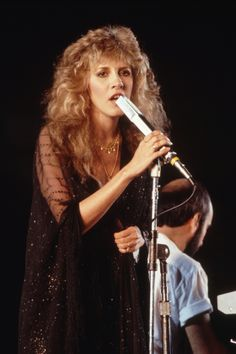 Stevie   ~ ☆♥❤♥☆ ~     looking gorgeous,  photographed at an anti-nuclear rally at the Rose Bowl in Pasadena, CA, 1982