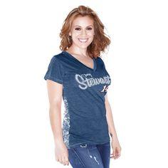 Tony Stewart Touch by Alyssa Milano Women's Audrey V-Neck T-Shirt - Navy Blue - $23.99