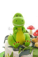 Meet T-Rex! (Little Cottage Cupcakes) Tags: birthday boy cake dinosaur toadstool trex