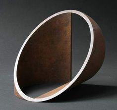 """Peter Millett Half Moon , 2007 Sculpture steel 9"""" x 9"""" x 9"""""""