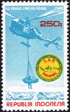 Sello: Search and Rescue Institute (Indonesia) Mi:ID 1044,Sn:ID 1170,Yt:ID 941,Sg:ID 1666