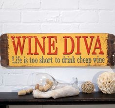 Wine Diva Wall Decor