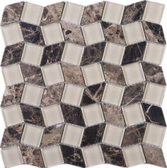 Brown Leaf Glass & Marble Mesh Mounted Mosaic Tile #brown_leaf_mosaic_tile #glass_marble_mosaic Ceramic Mosaic Tile, Stone Mosaic Tile, Ceramic Subway Tile, Glass Subway Tile, Marble Mosaic, Mosaic Glass, Wood Look Tile, Glass Marbles, Color Tile