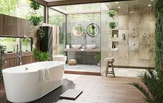 100 Spa Bathroom Design Ideas For Your Dream House Bathroom Decor Ideas Bathroom Design Dream House Ideas Spa Zen Bathroom Design, Bathroom Interior Design, Bathroom Modern, Bathroom Designs, Balinese Bathroom, Interior Decorating, Spa Interior, Decorating Ideas, Country Interior