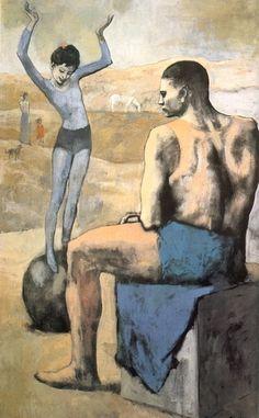 'jung `acrobat` auf einer ball', öl von Pablo Picasso (1881-1973, Spain)