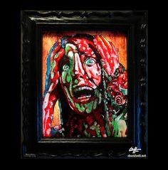 Carrie  Original Drawing  Horror Stephen King Blood by chuckhodi, $100.00