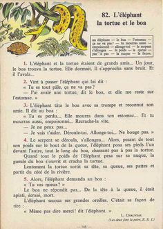 Manuels anciens: Tranchart, Levert, Rognoni, Bien lire et comprendre Cours élémentaire (1963) : grandes images French Kids, French Class, French Lessons, French Learning Books, Teaching French, English Story Books, French Worksheets, French Grammar, French Phrases