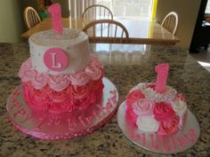 1st birthday cake cake smash cake is sooo cute..