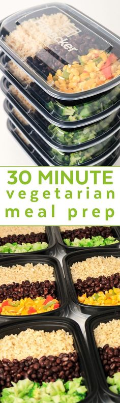 Vegan Meal Prep on a Budget - Easy Vegetarian Meal Prep for the Week - Make Ahead Meals Healthy - Lunch Ideas - Lunch Box Ideas for Adults - Cheap Meals on a Budget - Frugal Living Ideas via paleo lunch for the week paleo dinner on a budget Vegetarian Meal Prep, Vegetarian Recipes Easy, Vegan Vegetarian, Vegan Meals, Delicious Recipes, Paleo Ideas, Vegetarian Italian, Whole Food Recipes, Diet Recipes