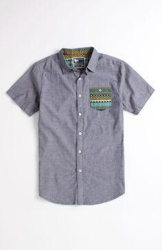 Modern Amusement Export Short Sleeve Woven Shirt #pacsun