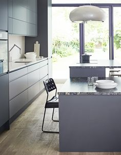 The matt finish of the cabinets in Birch and Stove Grey, also adds a fresh style to your home - Pure kitchen from John Lewis of Hungerford. http://www.john-lewis.co.uk/kitchens/contemporary-pure-kitchen