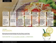 Tony Robbins meal by meal diet plan