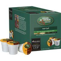 Green Mountain HalfCaff Coffee for Keurig Brewing Systems  108 KCups *** Click on the affiliate link Amazon.com on image for additional details.