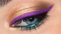 Apply brightly colored liner instead of your old black or brown liner