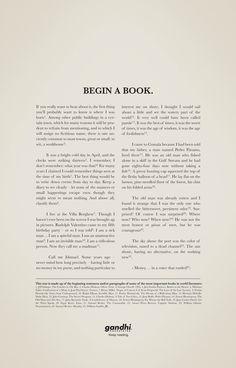 "Gandhi Bookstores: Story I - ""Begin a book"" / Ogilvy & Mather, Mexico (March 2011)"