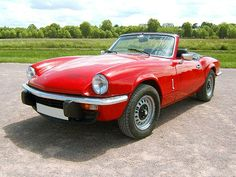 Triumph Spitfire 1500 second convertible I ever owned. Ours was yellow. So much fun!