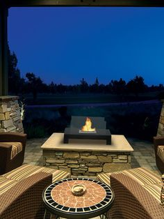 Gramercy Indoor/Outdoor Fireplace by Anywhere Fireplace on Gilt Home