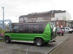 Van in green and black