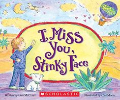 Like many little kids, Stinky Face worries when his Mama is away. But Mama tells her son that nothing can keep them apart and that she'll be flying home to see him tomorrow. Mother and son reveal how much they miss each other and how they can't wait to be together again! Children will laugh at all the fun situations and wild exaggerations and will be reassured by the endearing message about the undying love of a mother.