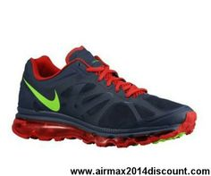 New 487982-436 Mens Nike Air Max 2012 Midnight Navy Gym Red White Electric Green Fashion Shoes Store