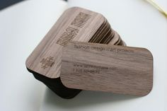 Veneer Business Cards by LASERS BROTHERS , via Behance