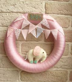 BABY WREATH Baby Room Nursery Wreath Elephant by sistersdreams, £22.00