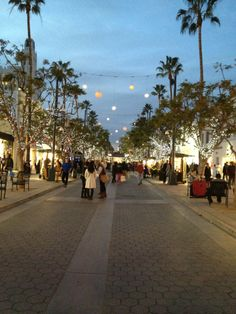 Santa Monica, California. 3rd St Promenade. shopping, people, weather, everything!