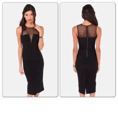 Little black dress mid bodycon