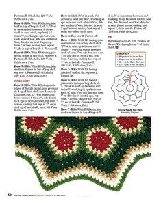 Crochet World Fall 2016 - understatement - understatement Christmas Rugs, Crochet Christmas Decorations, Crochet Christmas Trees, Christmas Crochet Patterns, Holiday Crochet, Christmas Knitting, Crochet World, Crochet Granny, Crochet Crafts