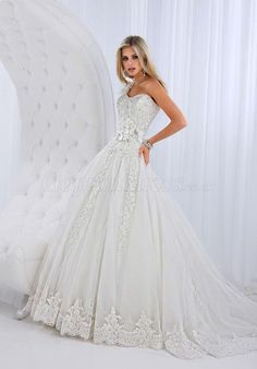 Ball Gown Satin Flowers One Shoulder Applique Wedding Dress picture 1