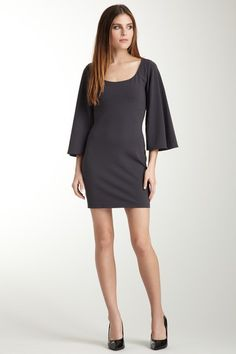 Simple black dress.  Susana Monaco Billow Sleeve Dress.